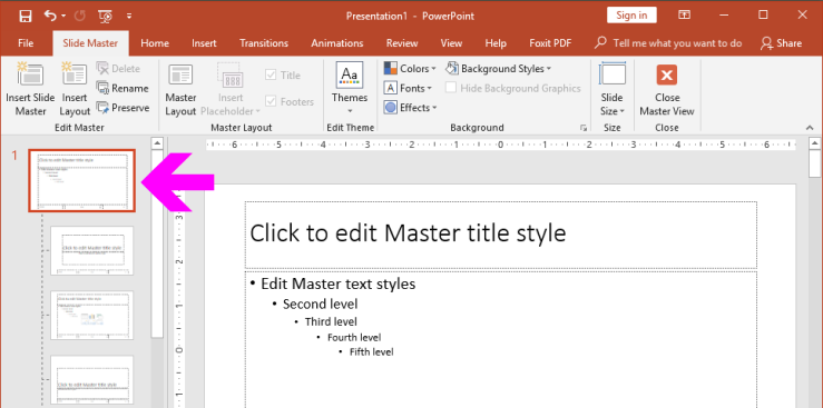PowerPoint Slide Master: Layouts