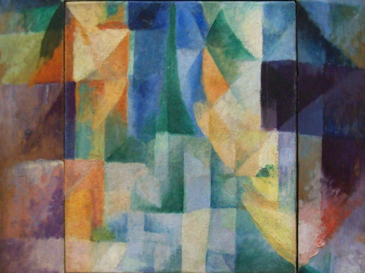 Detail from Robert Delaunay, Simultaneous Windows on the City, 1912