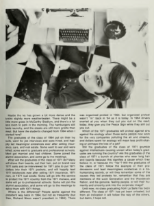 Page 43 from the La Salle College yearbook, 1971