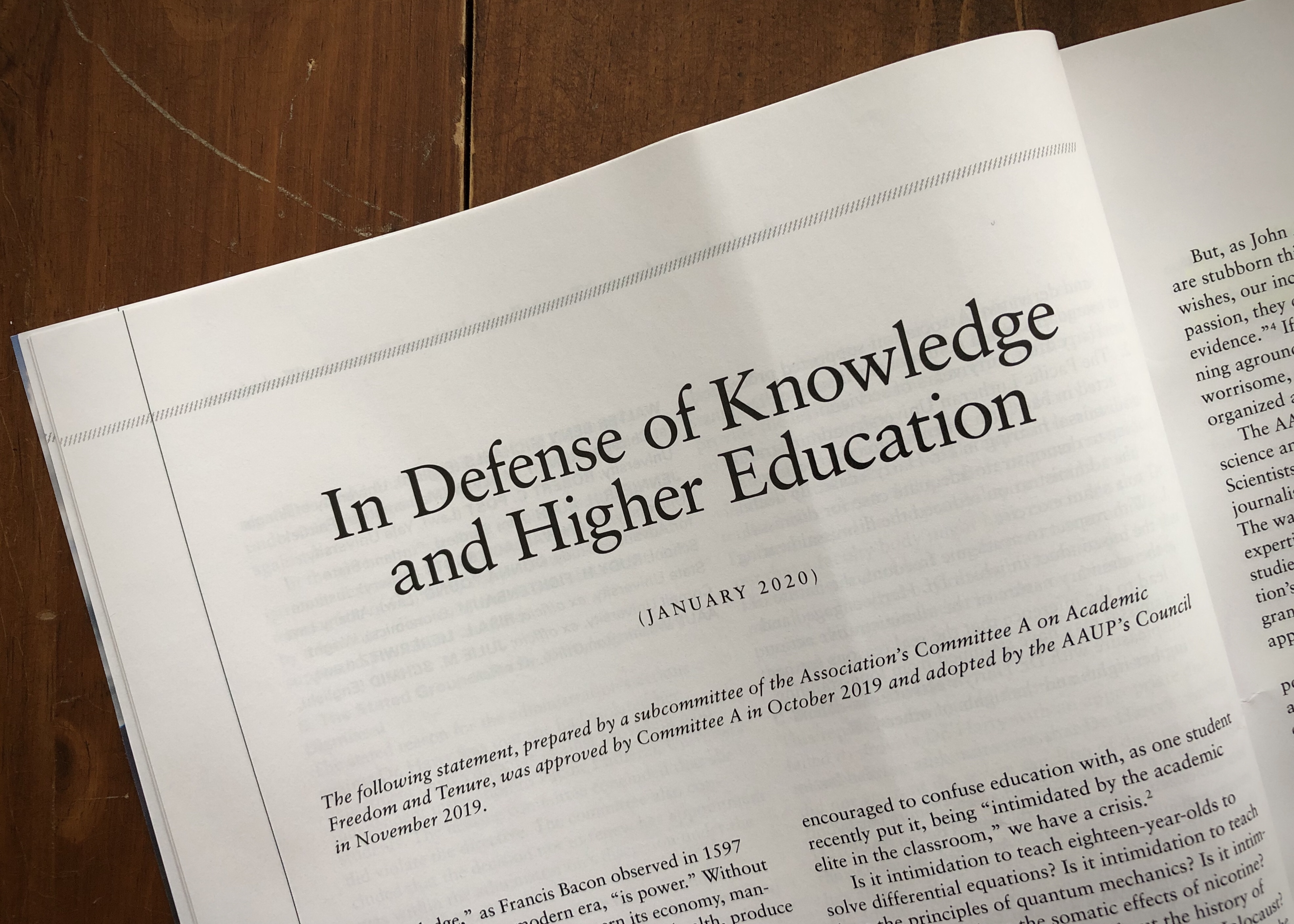 In Defense of Knowledge and Higher Education